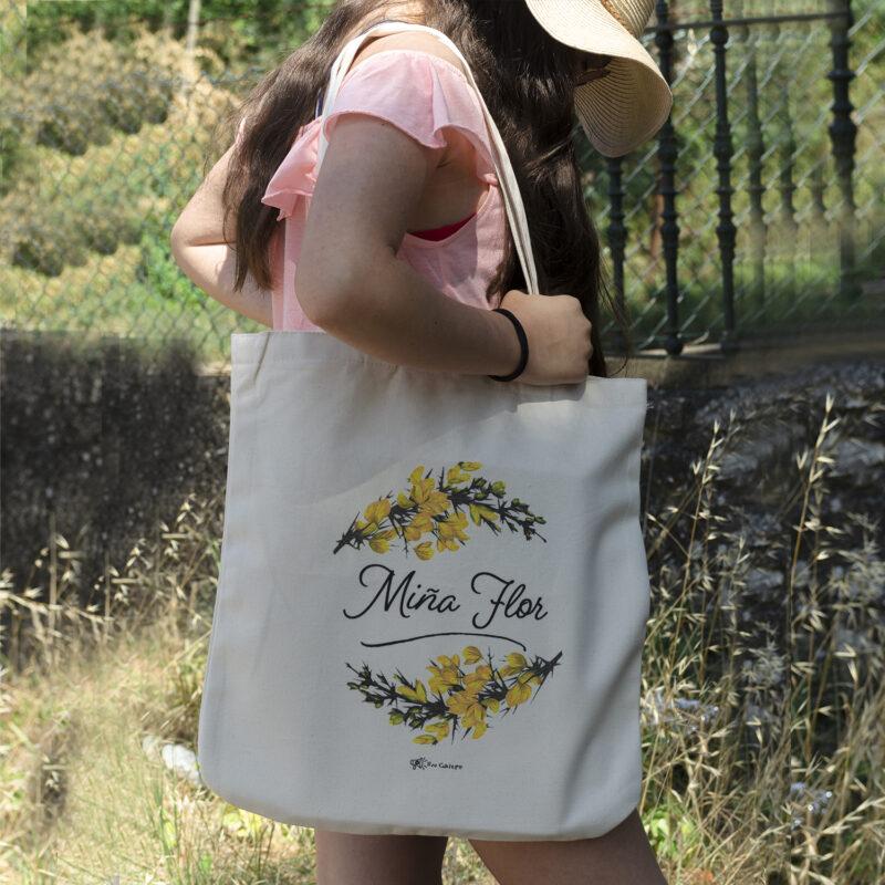bolsa de algodón orgánico Miña Flor